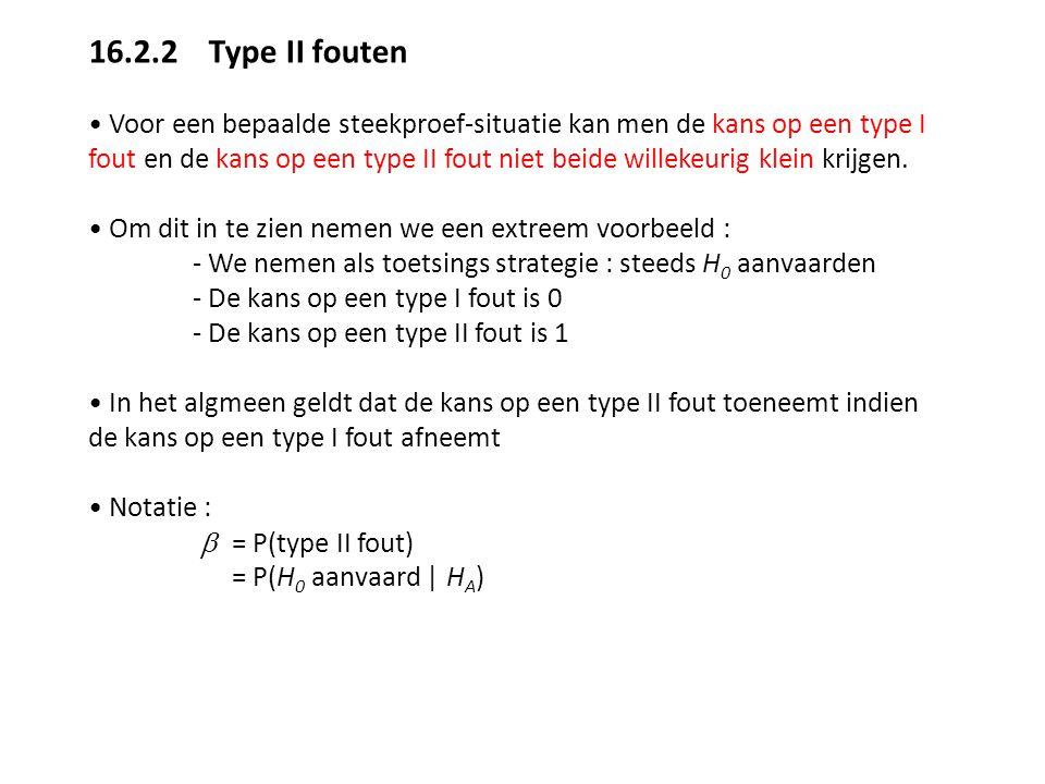 16.2.2 Type II fouten