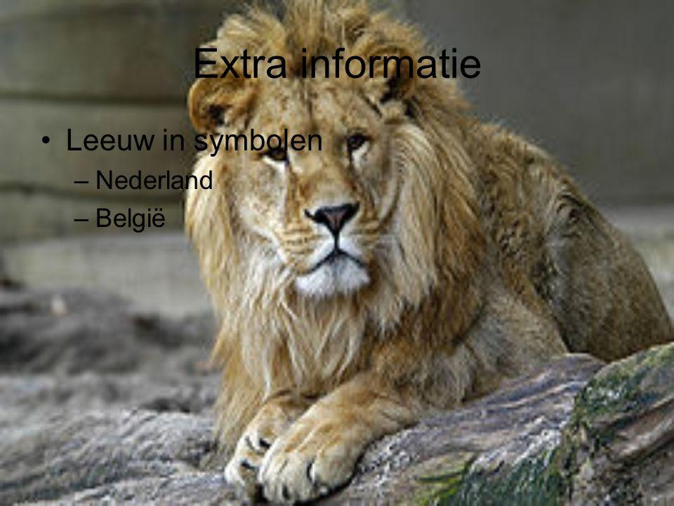 Extra informatie Leeuw in symbolen Nederland België