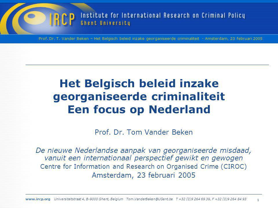 Het Belgisch beleid inzake georganiseerde criminaliteit Een focus op Nederland