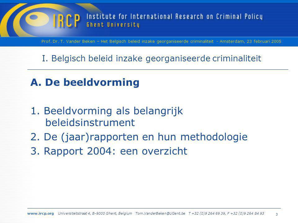 I. Belgisch beleid inzake georganiseerde criminaliteit