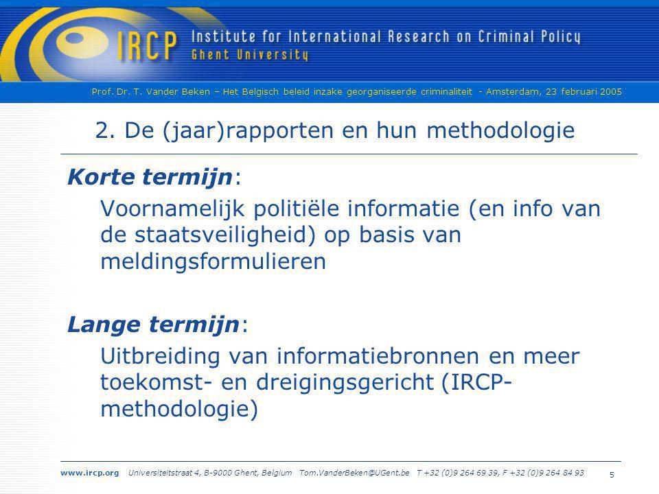 2. De (jaar)rapporten en hun methodologie