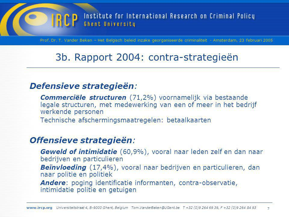 3b. Rapport 2004: contra-strategieën