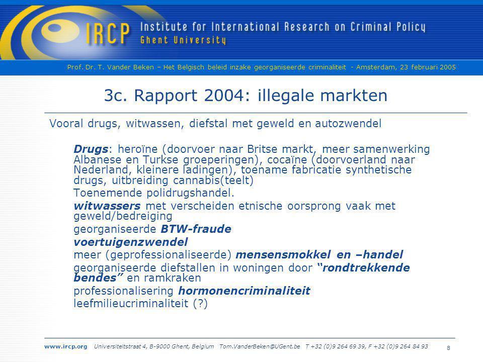 3c. Rapport 2004: illegale markten