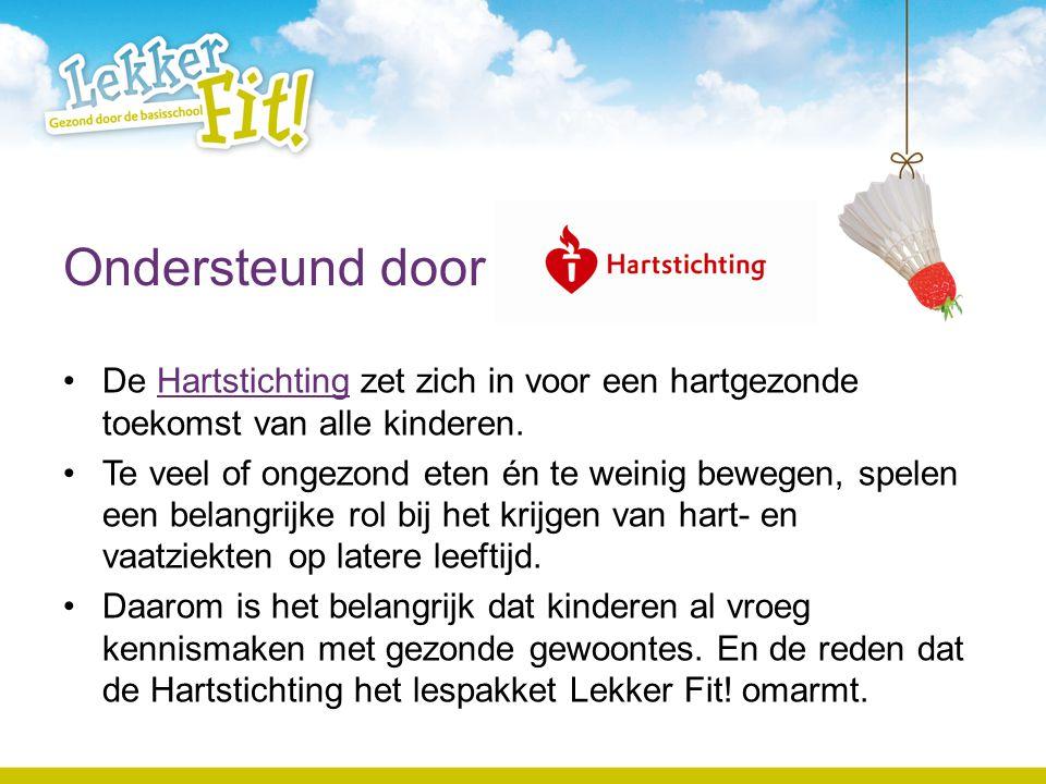 Ondersteund door De Hartstichting zet zich in voor een hartgezonde toekomst van alle kinderen.