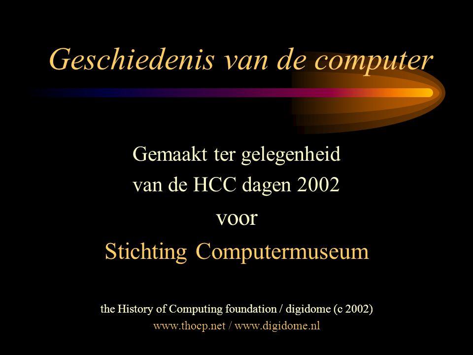 Geschiedenis van de computer