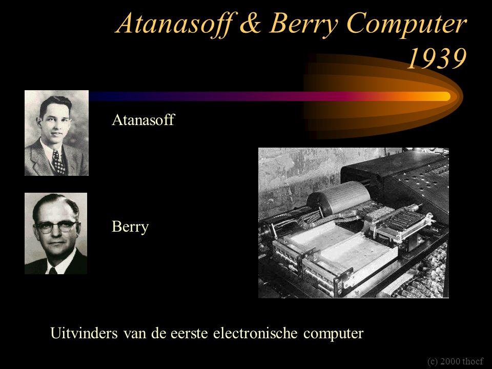 Atanasoff & Berry Computer 1939