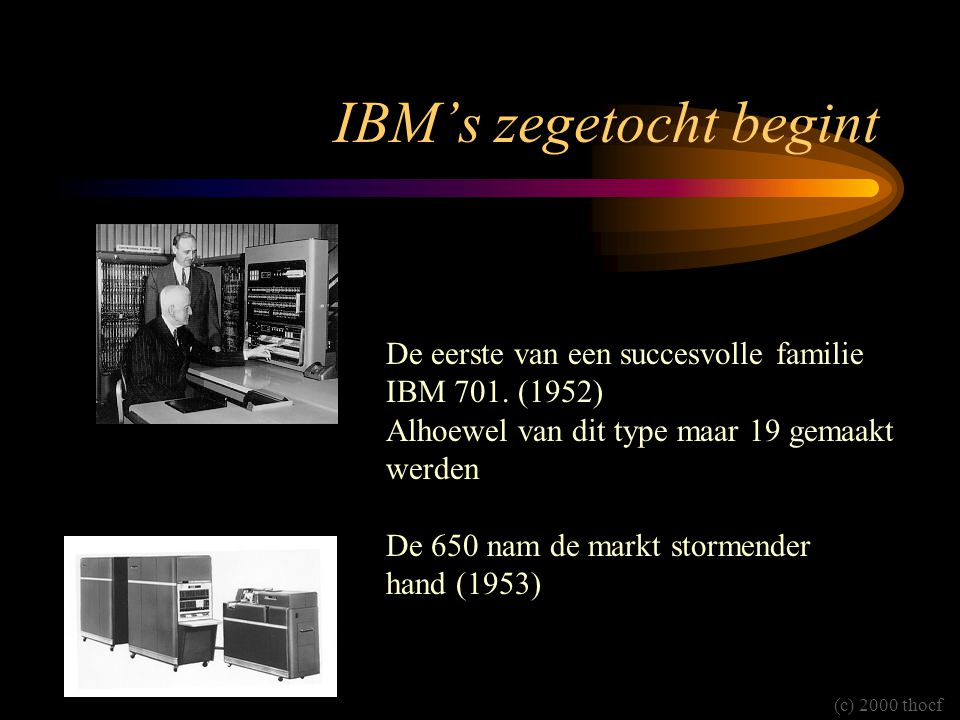 IBM's zegetocht begint