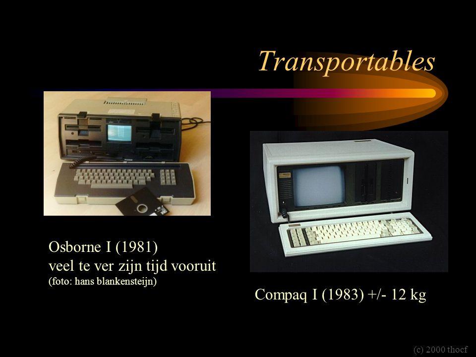 Transportables Osborne I (1981) veel te ver zijn tijd vooruit (foto: hans blankensteijn) Compaq I (1983) +/- 12 kg.