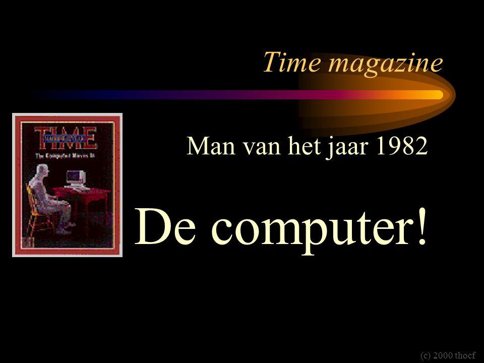 Time magazine Man van het jaar 1982 De computer! (c) 2000 thocf