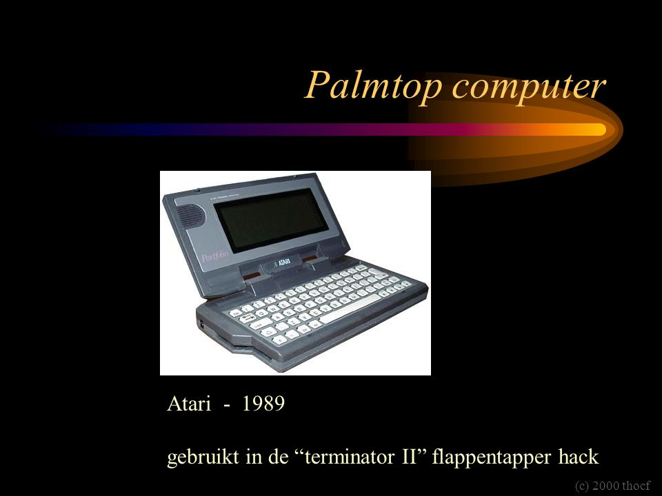 Palmtop computer Atari - 1989