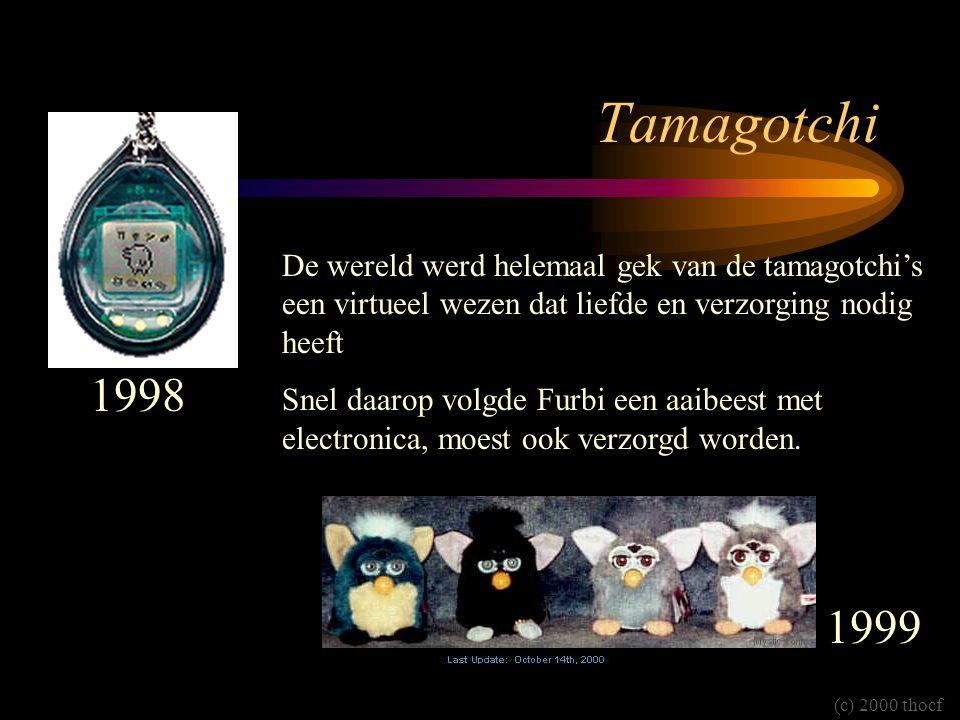 Tamagotchi De wereld werd helemaal gek van de tamagotchi's een virtueel wezen dat liefde en verzorging nodig heeft.