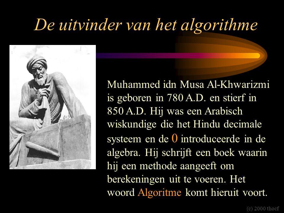 De uitvinder van het algorithme