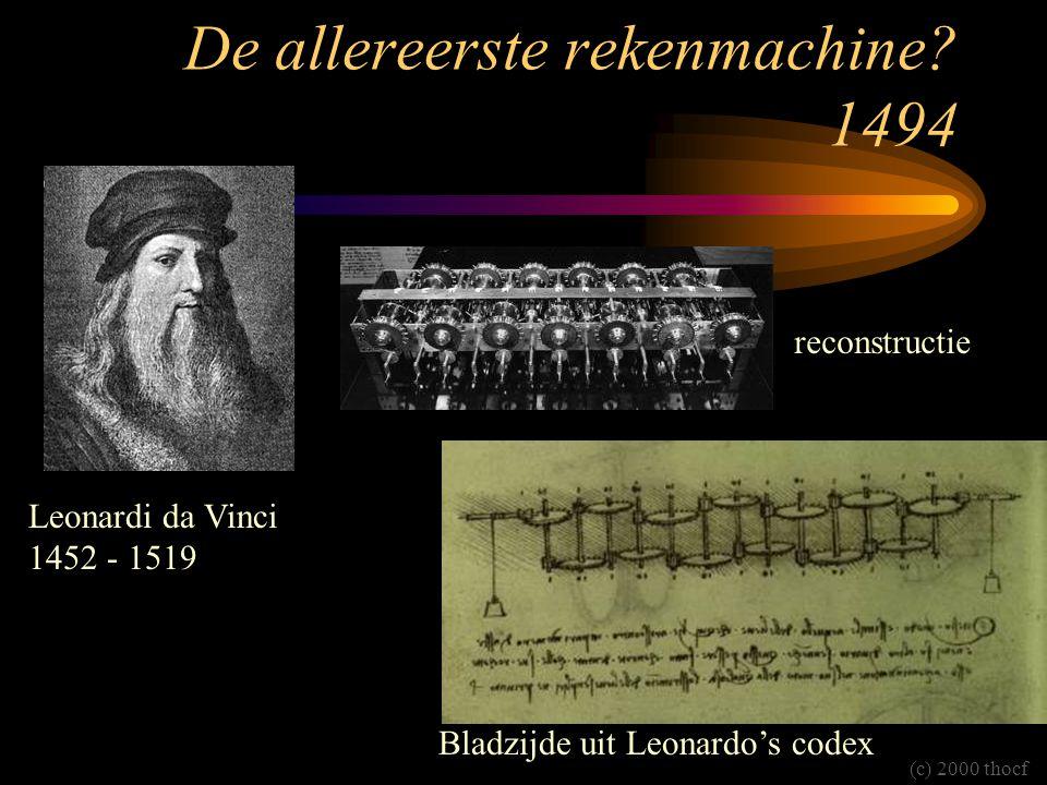 De allereerste rekenmachine 1494