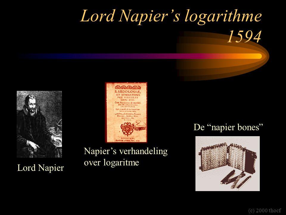 Lord Napier's logarithme 1594