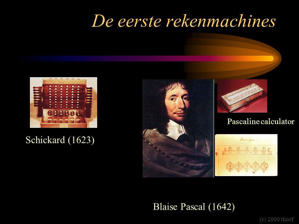 De eerste rekenmachines