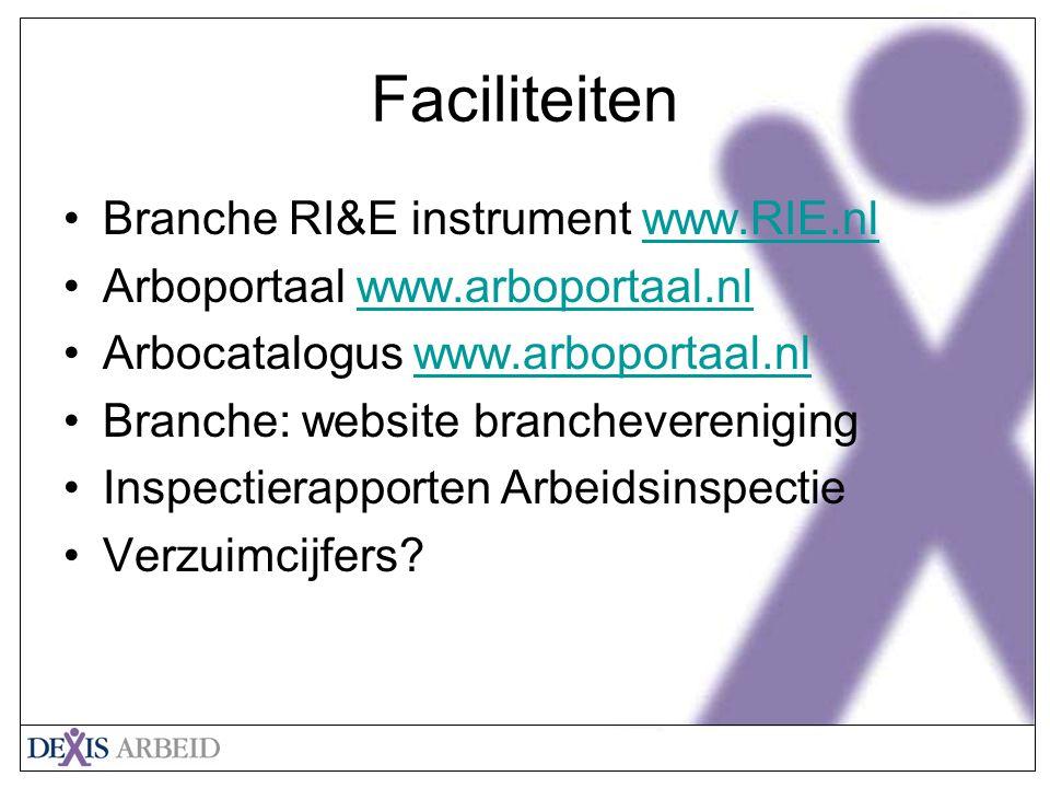 Faciliteiten Branche RI&E instrument www.RIE.nl
