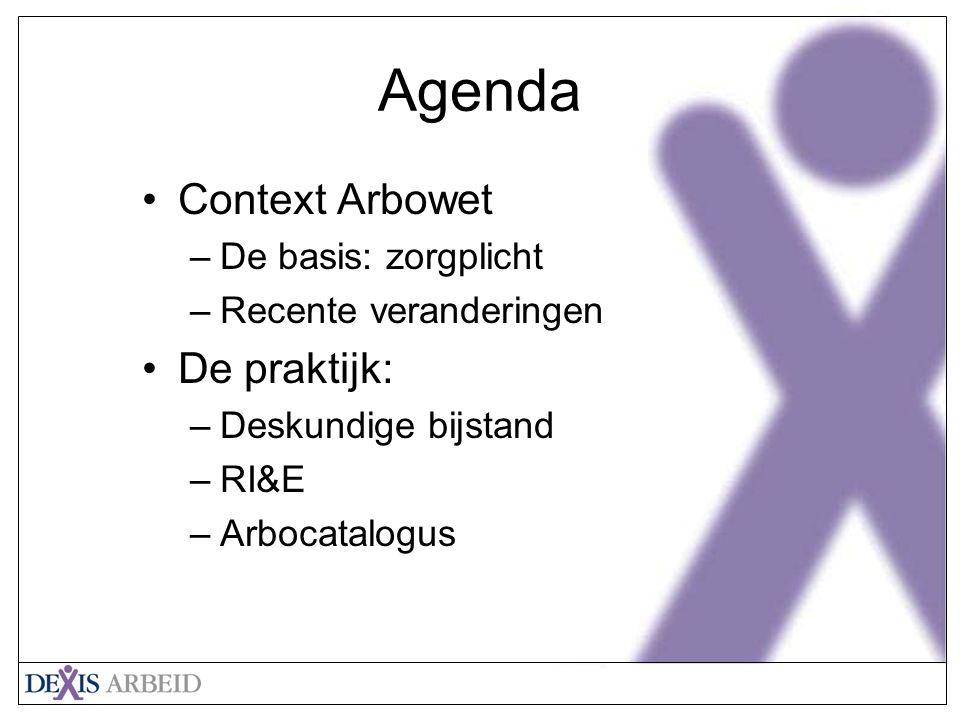 Agenda Context Arbowet De praktijk: De basis: zorgplicht