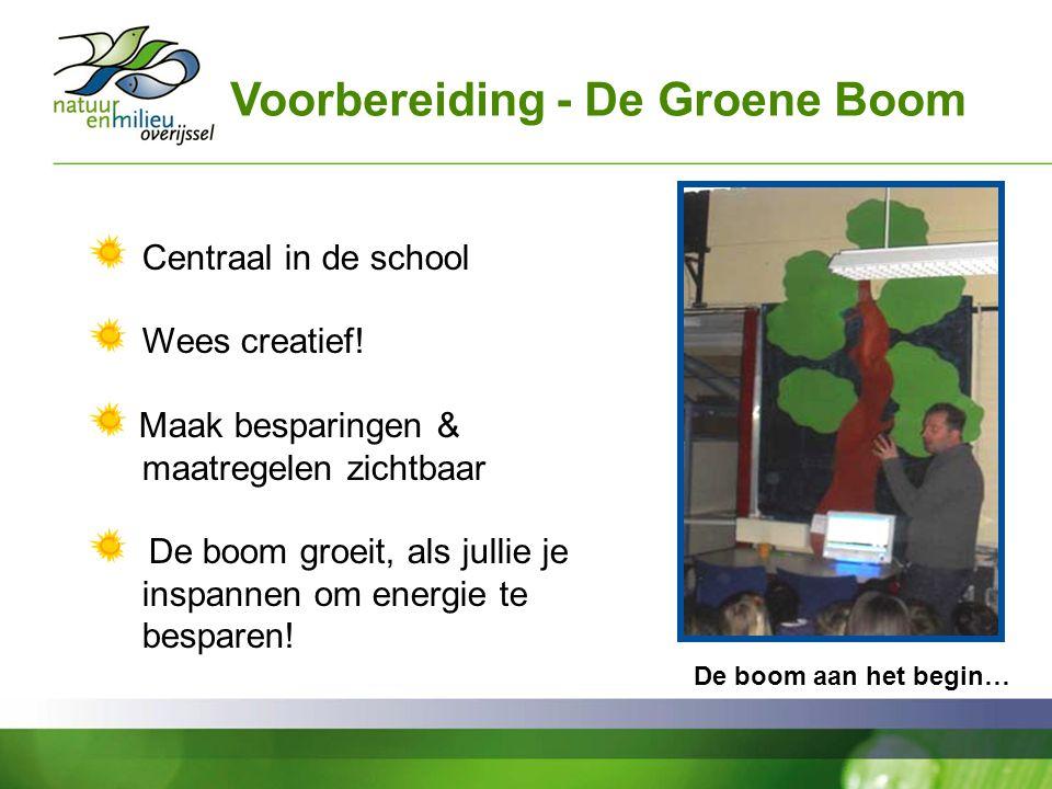 Voorbereiding - De Groene Boom