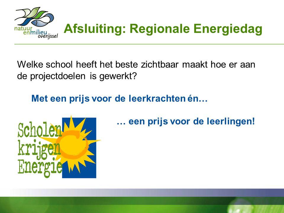 Afsluiting: Regionale Energiedag