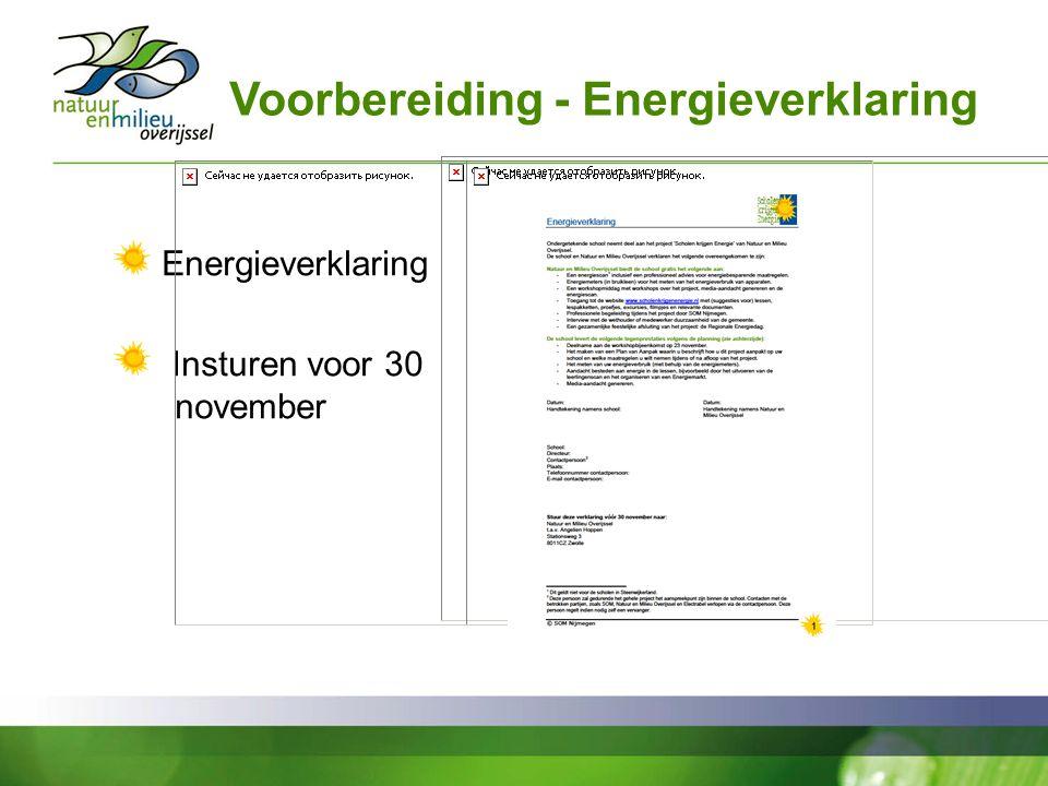 Voorbereiding - Energieverklaring