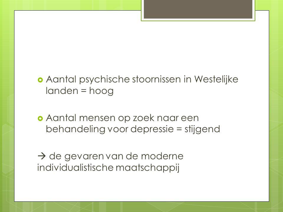 Aantal psychische stoornissen in Westelijke landen = hoog