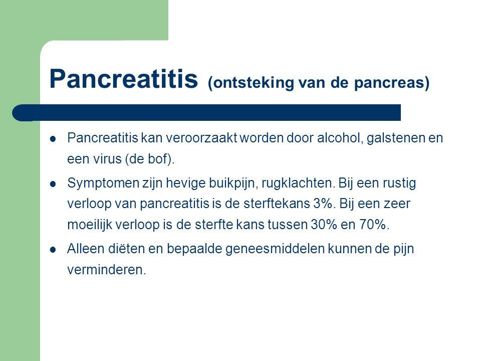 Pancreatitis (ontsteking van de pancreas)