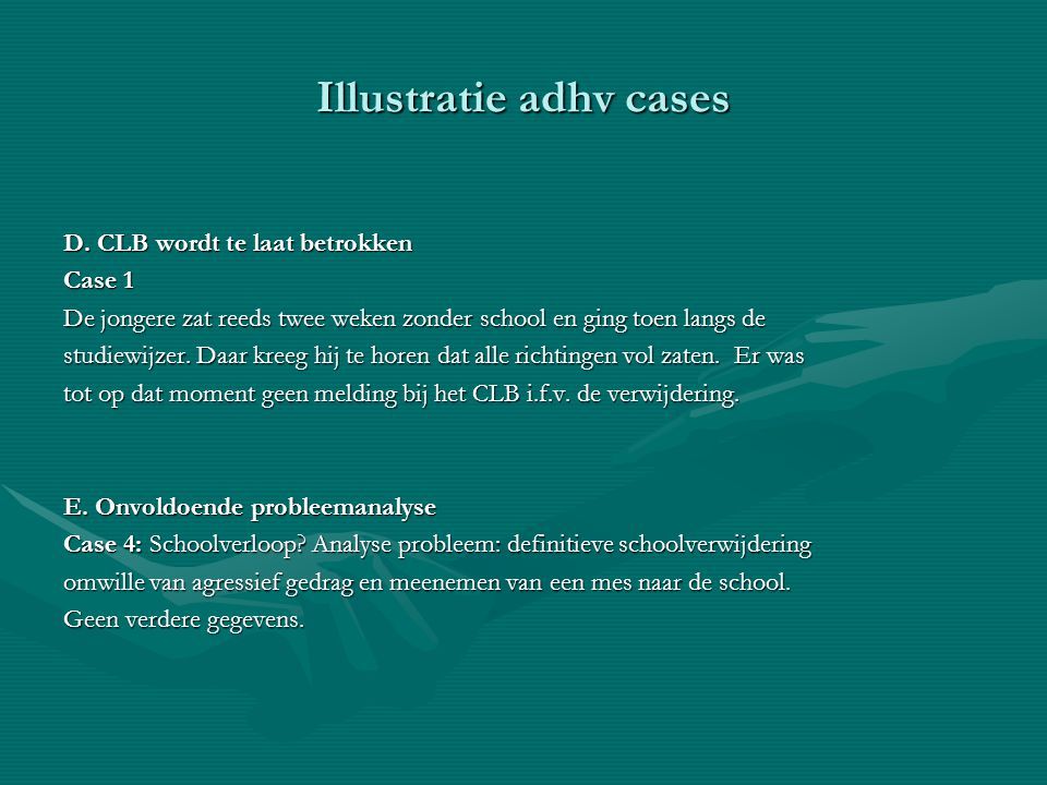 Illustratie adhv cases