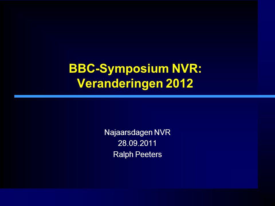 BBC-Symposium NVR: Veranderingen 2012