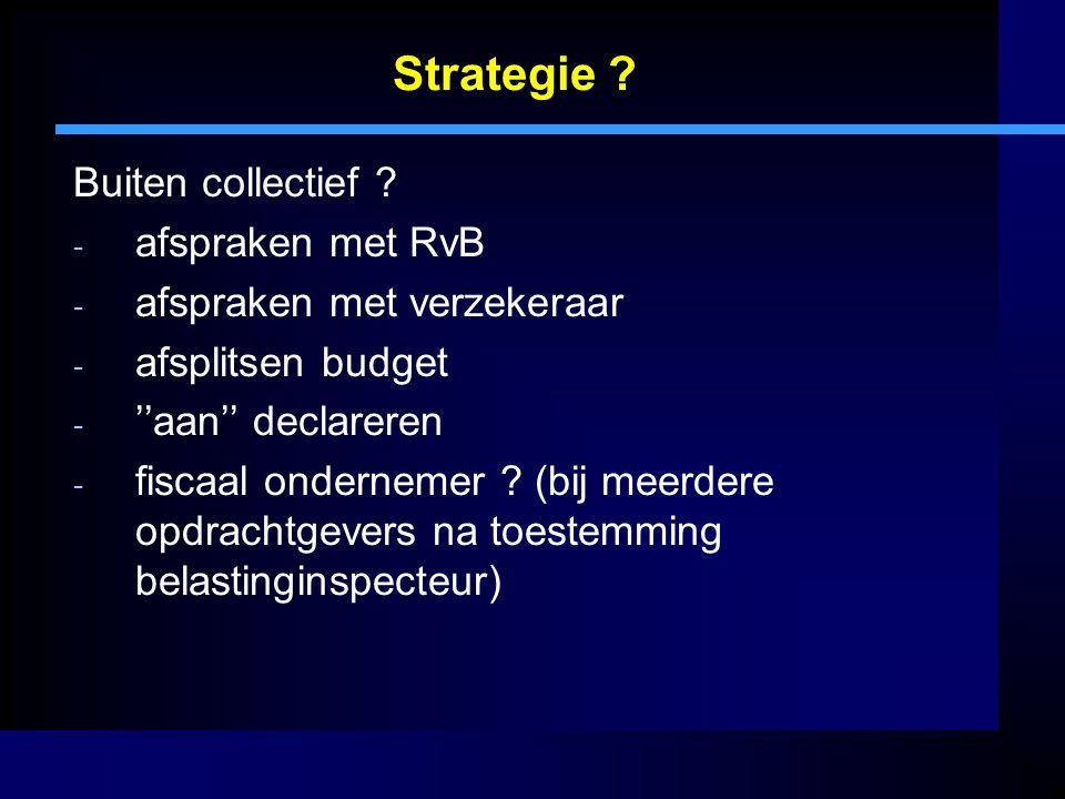 Strategie Buiten collectief afspraken met RvB