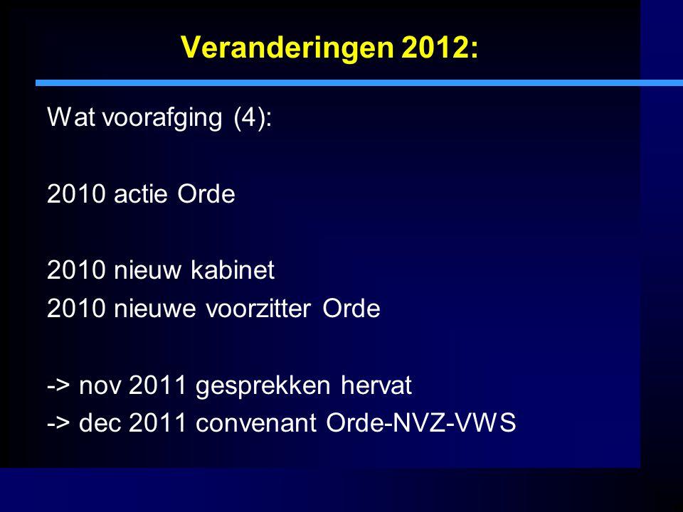 Veranderingen 2012: Wat voorafging (4): 2010 actie Orde