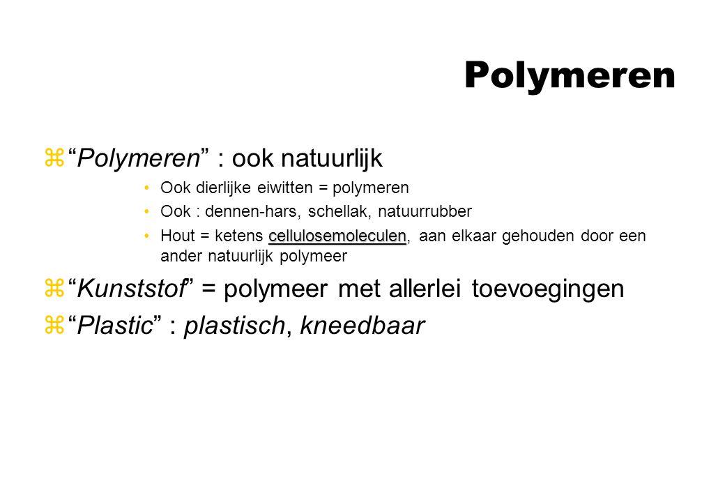 Polymeren Polymeren : ook natuurlijk