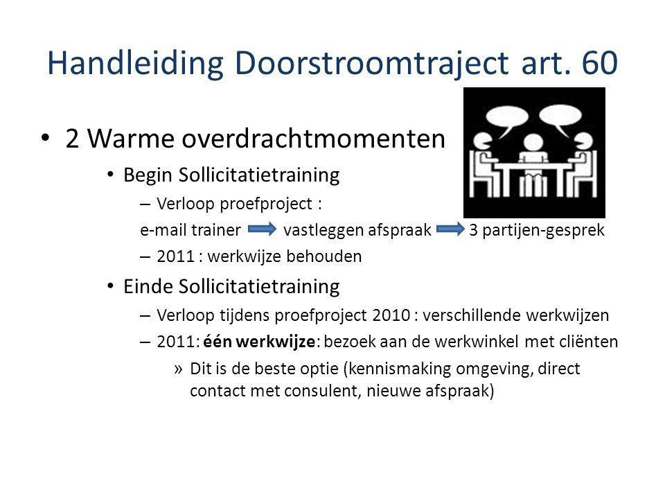 Handleiding Doorstroomtraject art. 60