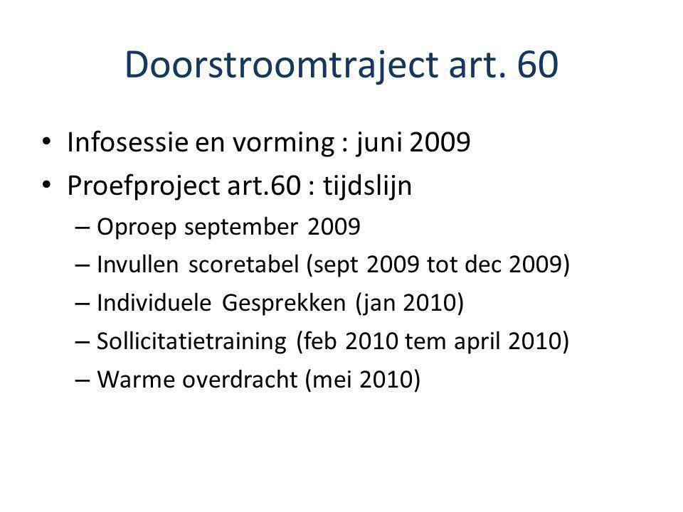 Doorstroomtraject art. 60