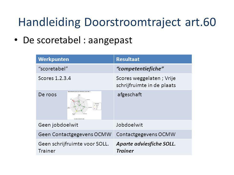 Handleiding Doorstroomtraject art.60