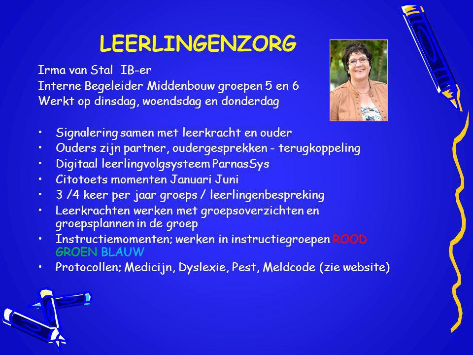 LEERLINGENZORG Irma van Stal IB-er