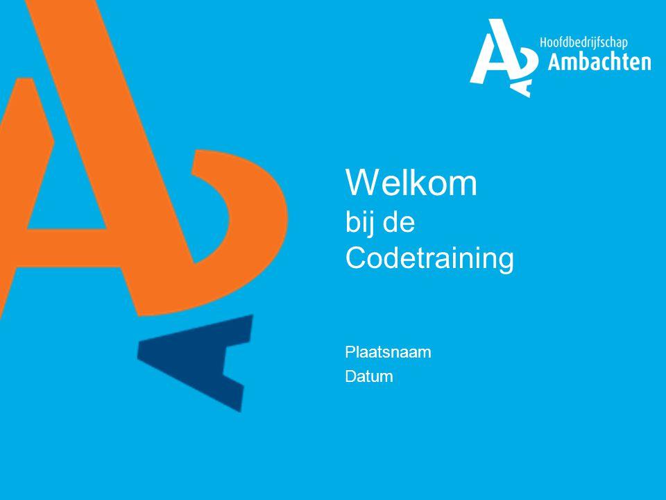 Welkom bij de Codetraining