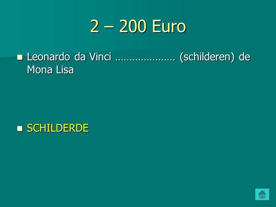 2 – 200 Euro Leonardo da Vinci ………………… (schilderen) de Mona Lisa