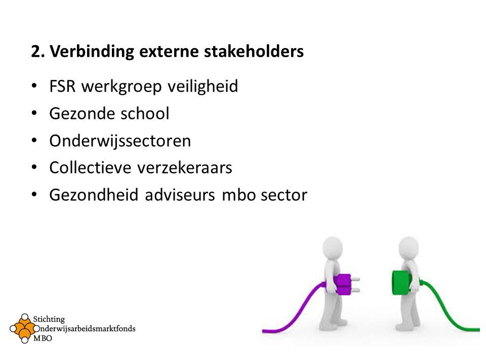 2. Verbinding externe stakeholders