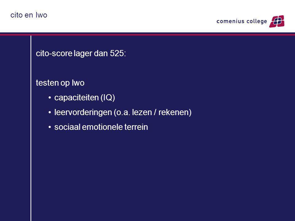 leervorderingen (o.a. lezen / rekenen) sociaal emotionele terrein
