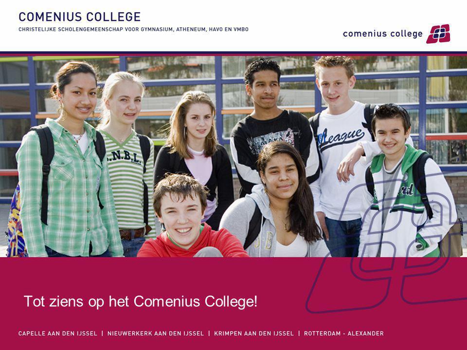 Tot ziens op het Comenius College!