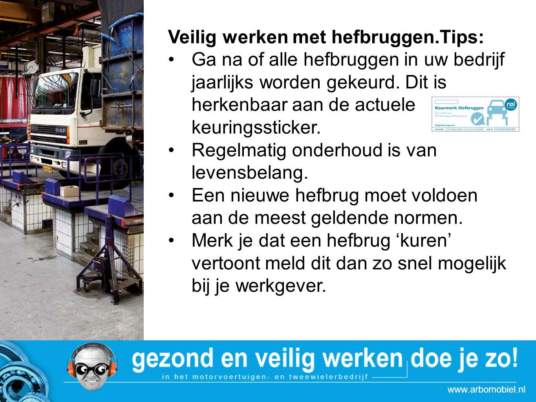 Veilig werken met hefbruggen.Tips: