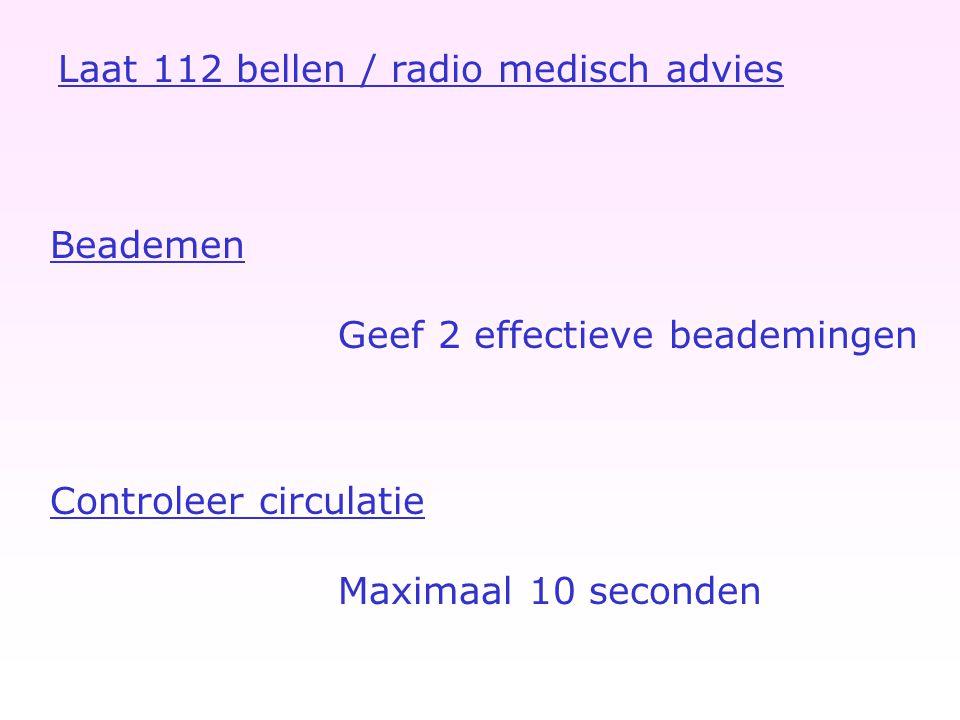Laat 112 bellen / radio medisch advies