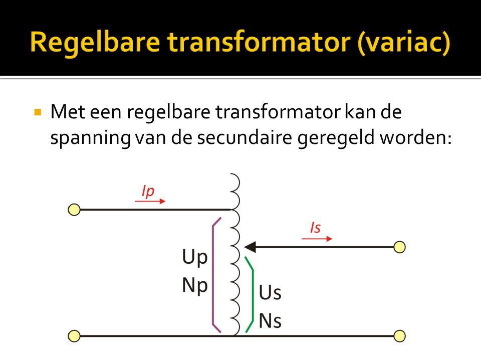 Regelbare transformator (variac)