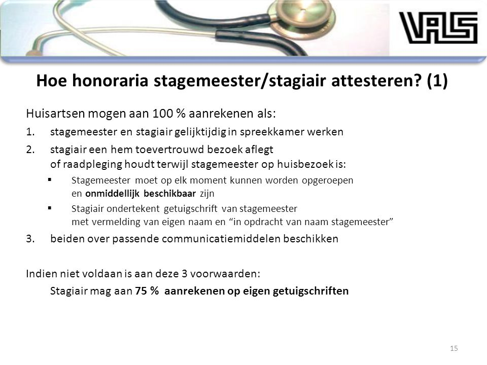 Hoe honoraria stagemeester/stagiair attesteren (1)