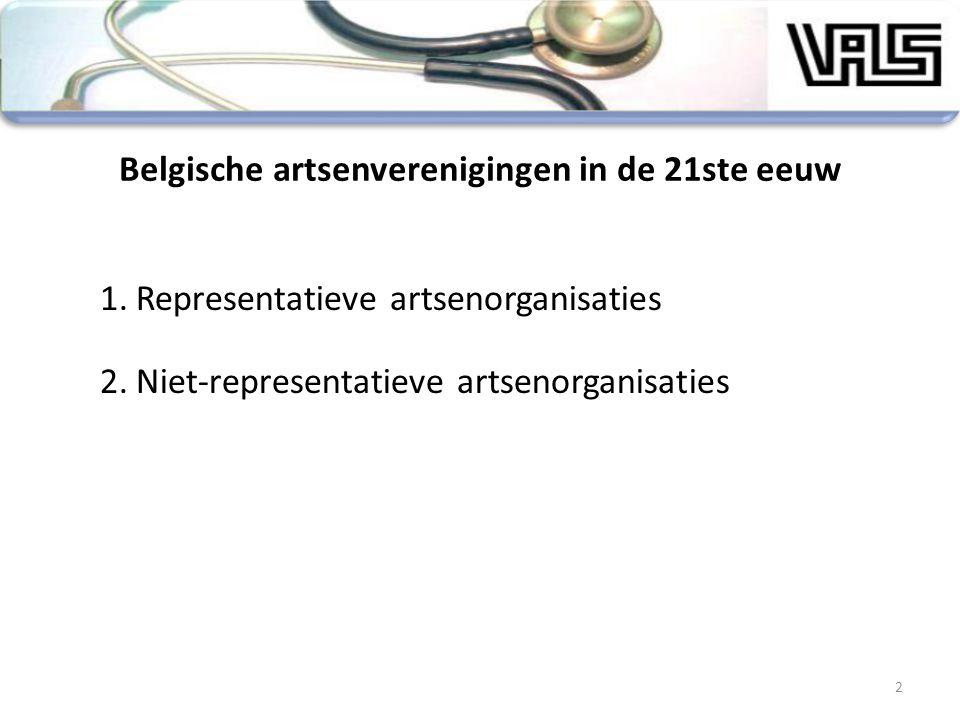 Belgische artsenverenigingen in de 21ste eeuw
