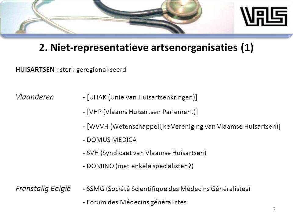 2. Niet-representatieve artsenorganisaties (1)