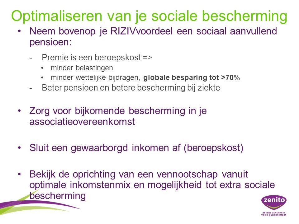 Optimaliseren van je sociale bescherming