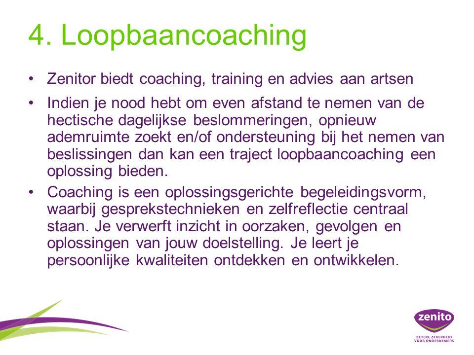 4. Loopbaancoaching Zenitor biedt coaching, training en advies aan artsen.