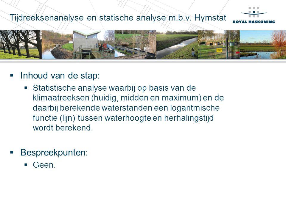 Tijdreeksenanalyse en statische analyse m.b.v. Hymstat