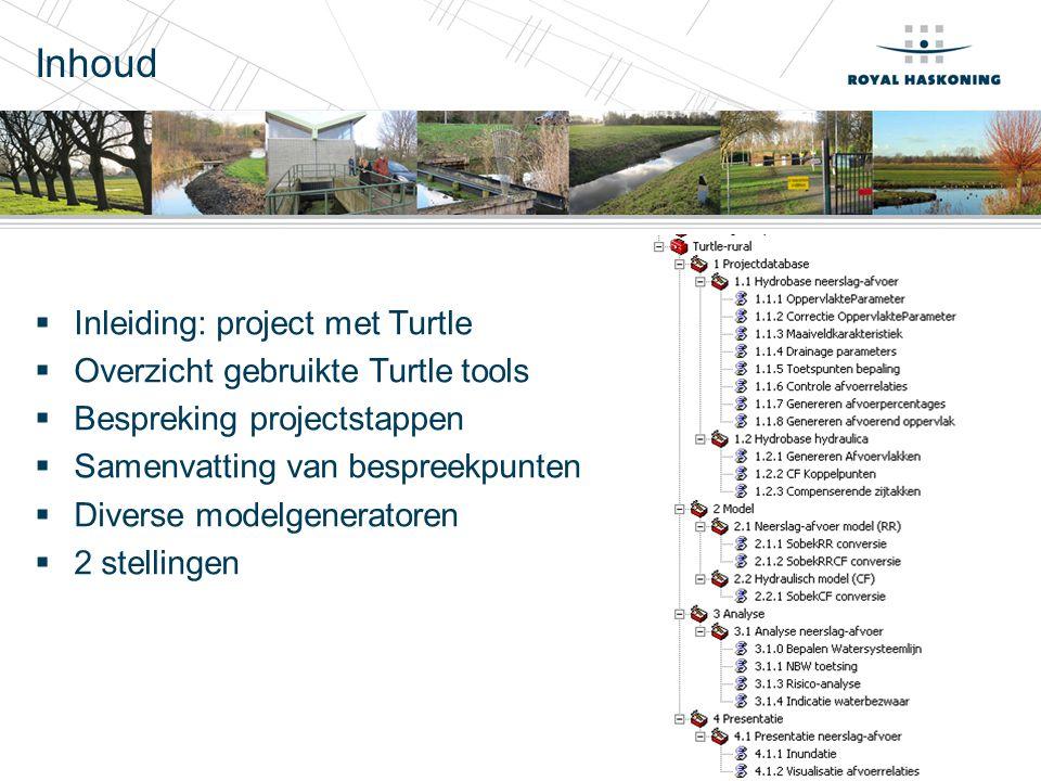 Inhoud Inleiding: project met Turtle Overzicht gebruikte Turtle tools